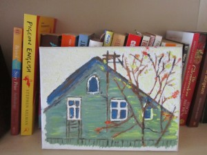 photo of painting of house